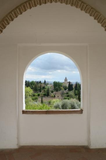 Grenade- le Generalife - vue de l'Alhambra